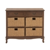 Brilliant Wood Sea Grass Brown Dresser, Natural wood, Brown