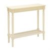 Remarkable Wood Console Table, White