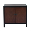 "Wood Cabinet 31""W, 29""H, Black, Dark Brown"