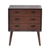 "Wood Chest 24""W, 28""H, Brown"