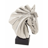 Benzara Exquisite And Classy Ceramic Horse Head Silver