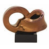 "Benzara Infinity Ceramic Copper Abstract 11""W, 9""H"