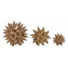 "Benzara Lovely Ceramic Made Set Of 3 Star Abstract 4"", 5"", 7""D"