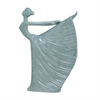 """Ceramic Lady-Gray Color 10""""W, 15""""H, Dancing Lady"""