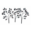 Benzara Metal Leaf Decor In Dark Color With Soothing & Royal Touch