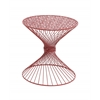 Benzara Interesting Styled Metal Red Accent Table