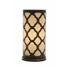 Benzara Appealing Metal Paper Table Lamp