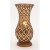 """Benzara Intricate Designer Metal Vase 9.5""""W, 20""""H"""