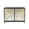 Enchanting Wood Cabinet, Silver & Black