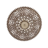 Charismatic Wood Ps Wall Decor, Brown and Cream