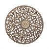 Dazzling Wood Ps Wall Decor, Brown and Cream