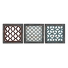 Benzara The Stylish Wood Wall Decor 3 Assorted