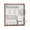 Benzara The Ingenious Wood Metal Wall Strong Rack