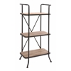 Benzara The Useful Metal Wood Shelf