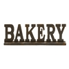 Benzara Attention Stealing Wood Bakery Sign