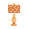 Customary Styled Attractive Glass Table Lamp