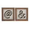 Benzara Fancy Wood Metal Wall Decorative 2 Assorted
