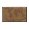 Vintage Wood Wall Map Decor
