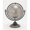 Elite Metal Silver Globe, Black and Silver