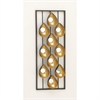 Appealing Metal Mirror Wall Panel, Gold and Black