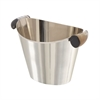 Classy Stainless Steel Horn Wine Cooler, Chrome silver