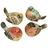 Benzara Polystone Bird Set Of 4 Real Like Beautiful Birds
