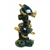 Benzara Black Polystone Sea Turtle 12 Inches Wide Artistically Designed
