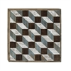 "Wood Wall Art 31""W, 31""H, Gray, White, Brown"