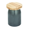 "Fibrglass Wood Foot Stool 13""W, 17""H, Light Brown, Gray"