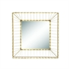"Metal Gold Square Wall Miror 24""W, 24""H, Gold"