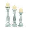 Candle Holder In Classic Design With Solid Base - Set Of 3