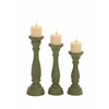 Benzara The Spiritual Set Of 3 Wood Candle Holders