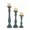 Benzara Set Of Three Rusty And Antique Candle Holders