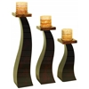 Benzara Wood Candle Holder Set Of 3 An Special Occasion Decoration