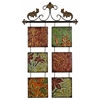 Benzara Metal Wall Decor Botanical Scroll Metal