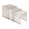 Benzara The Slick Set Of 3 Stainless Steel Nesting Table