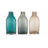 Benzara The Lovely Glass Bottle Vase 3 Assorted