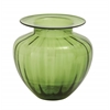 The Wholesome Glass Fluted Vase Green