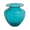 Benzara The Unmatched Glass Fluted Vase Blue
