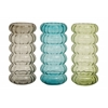 Benzara Colorful Stylish Glass Vase 3 Assorted