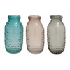 Benzara Dotted Pattern Superb Glass Vase 3 Assorted