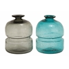 Benzara Amazing Patterned Glass Vase 2 Assorted