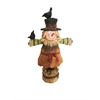 12 Inch Scarecrow Girl Statuary, Brown