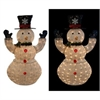 50 Inch White Thread Snowman Decor W/100 Led Lights (Plug In)