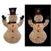 50 Inch White Thread Snowman Decor W/100 Led Lights (Plug In)