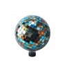 "Benzara 10"" Mosaic Gazing Ball Blue/Amber"