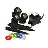 Benzara Power Beam Set Of 3, 20W Lights W/ Transformermer 23 Ft. Cord