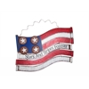 "Benzara American Flag Metal Wall Decor 18""L"