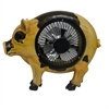 9 Inch Pig Statuary With Fan