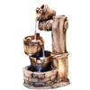 30 Inch Tiering Barrel Fountain With Led Lights